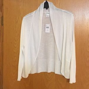 White maternity cardigan